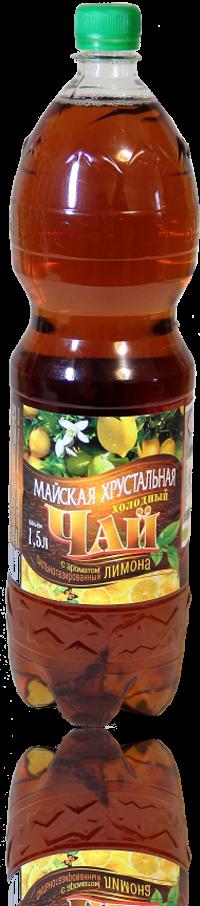 Напиток среднегазированный «Холодный чай с ароматом лимона» (ПЭТ) объем 1,5л., 0,5л